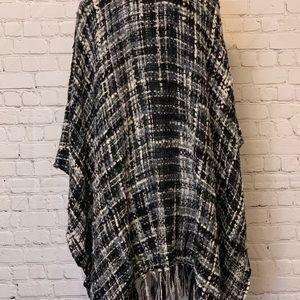 Apt. 9 Jackets & Coats - Apt 9 Open Front Cardigan Fringe Poncho Cape. NWT